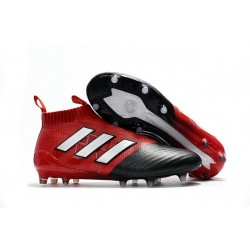Baratas Botas de fútbol adidas Ace 17+ Purecontrol FG Blanco Rojo Negro
