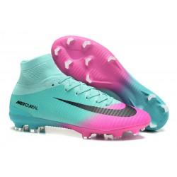 Zapatillas de fútbol Nike Mercurial Superfly V FG Para Hombre Rosa Azul Negro