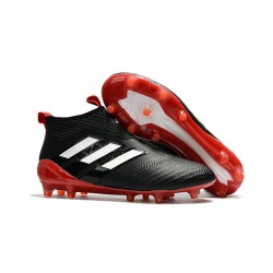 Zapatos de fútbol adidas Ace 17+ Purecontrol FG Negro Blanco Rojo