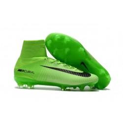 Baratas Botas de fútbol Nike Mercurial Superfly V FG Verde Negro