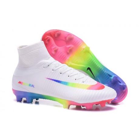 Nuevo Botas de fútbol Nike Mercurial Superfly 5 FG Blanco Rosa Volt Verde Azul Voltio