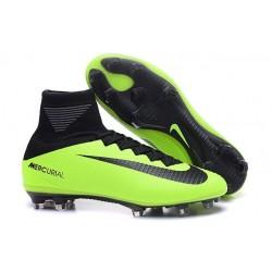 Zapatillas de fútbol Nike Mercurial Superfly V FG Para Hombre Negro Verde