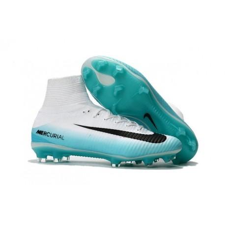 Zapatillas de fútbol Nike Mercurial Superfly 5 FG Negro Blanco Azul