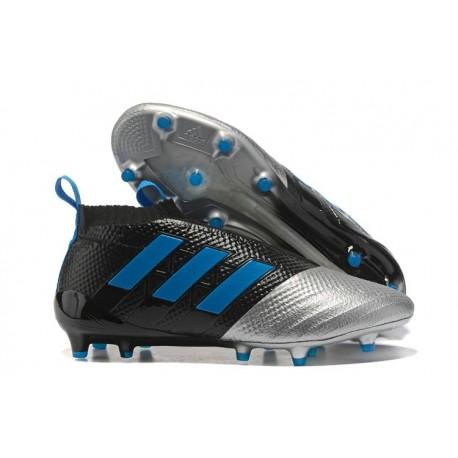 Tacos de futbol adidas Ace 17+ Purecontrol FG Negro Plata Azul