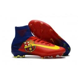 Nuevo Botas de fútbol Nike Mercurial Superfly 5 FG Barcelona FC Azul Rojo Amarillo