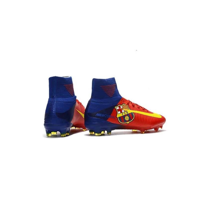 690c44b12c7 Nuevo Botas de fútbol Nike Mercurial Superfly 5 FG Barcelona FC Azul Rojo  Amarillo Ampliar. Anterior. Siguiente