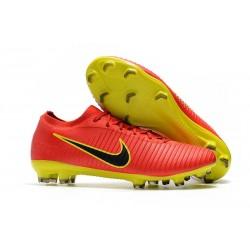 Botas de fútbol Nike Mercurial Vapor Flyknit Ultra FG Rojo Amarillo Negro