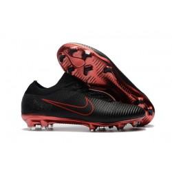 Botas de fútbol Nike Mercurial Vapor Flyknit Ultra FG Negro Rojo