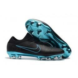 Botas de fútbol Nike Mercurial Vapor Flyknit Ultra FG Negro Azul