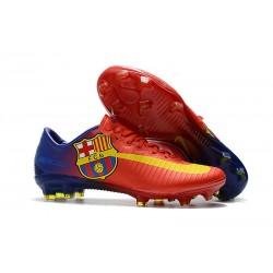 Zapatillas de fútbol para Hombre - Nike Mercurial Vapor XI FG Barcelona Rojo Azul Amarillo