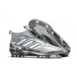 Nuevo Botas de fútbol adidas Ace 17+ Purecontrol FG Gris Blanco Negro