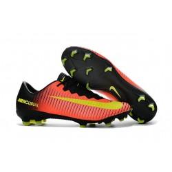 Zapatillas de fútbol para Hombre - Nike Mercurial Vapor XI FG Naranja Negro Amarillo