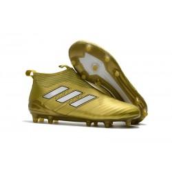 Nuevo Botas de fútbol adidas Ace 17+ Purecontrol FG Oro Blanco