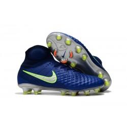 Zapatillas de fútbol Nike Magista Obra II FG Azul Verde