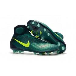 Zapatillas de fútbol Nike Magista Obra II FG Rio Volt Obsidiana Jade claro