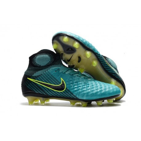 Nuevo Baratas Botas de fútbol Nike Magista Obra 2 FG Azul Voltio Negro