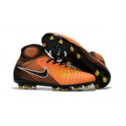 Nuevo Baratas Botas de fútbol Nike Magista Obra 2 FG Naranja Amarillo Negro