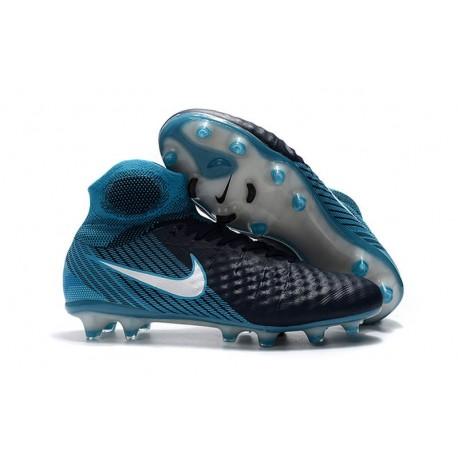 quality design 70288 da25b Nuevo Baratas Botas de fútbol Nike Magista Obra 2 FG Blanco Azul Negro