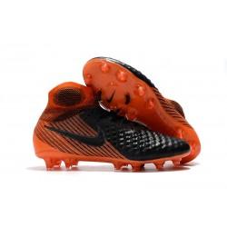 Botas de fútbol Nike Magista Obra II FG - Tacos de futbol Negro Blanco Rojo