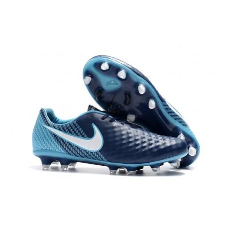 Nuevo Zapatillas de fútbol Nike Magista Opus 2 FG Azul Blanco