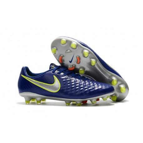 Botas de fútbol Nike Magista Opus 2 FG para Hombre Azul Voltio Plateado