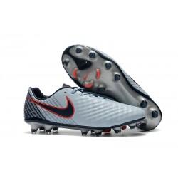 Nuevo Zapatillas de fútbol Nike Magista Opus 2 FG Gris Negro Rojo