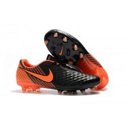 Botas de fútbol Nike Magista Opus 2 FG para Hombre Negro Blanco Naranja