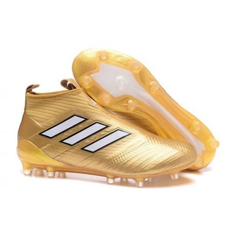 Zapatos de fútbol adidas Ace 17+ Purecontrol FG Oro Blanco