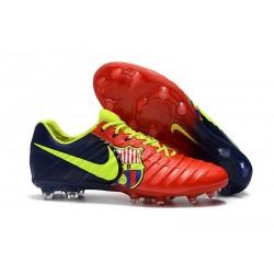 Zapatillas de fútbol Baratas Nike Tiempo Legend VII FG Barcelona Volt Azul Rojo
