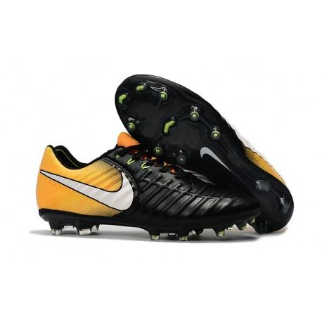 Botas de fútbol Nike Tiempo Legend VII Botas de Tacos Negro Blanco Amarillo