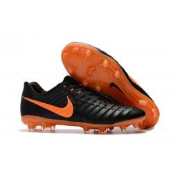 Zapatillas de fútbol Baratas Nike Tiempo Legend VII FG Negro Laser Naranja