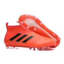 Zapatos de fútbol adidas Ace 17+ Purecontrol FG Naranja Solar Negro Core Rojo Solar