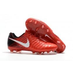 Botas de fútbol Nike Tiempo Legend VII FG Para Hombre Rojo Negro Blanco