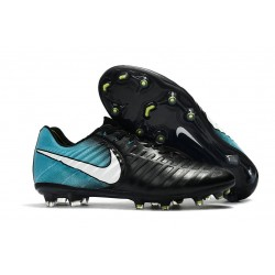 Botas Baratas Nike Tiempo Legend VII FG Negro Azul Blanco