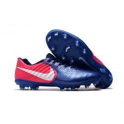 Botas de fútbol Nike Tiempo Legend VII FG Para Hombre Azul Rosado