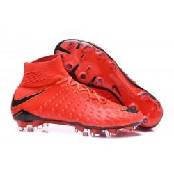 Zapatillas de fútbol Nike Hypervenom Phantom III DF FG Rojo Negro