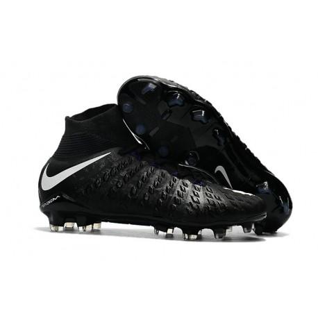 Zapatos de fútbol Nike Hypervenom Phantom III DF FG para Hombre Negro Blanco