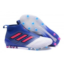 Zapatos de fútbol adidas Ace 17+ Purecontrol FG Azul Rojo Blanco