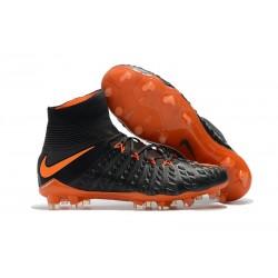 Nuevo Botas de fútbol Nike Hypervenom Phantom III DF FG Negro Naranja