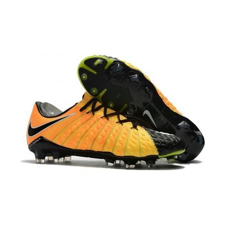Tacos de futbol para Hombre Nike HyperVenom Phantom III FG Amarillo Negro