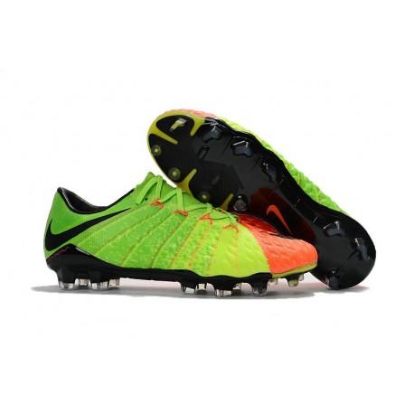 Tacos de futbol para Hombre Nike HyperVenom Phantom III FG Verde Naranja Negro