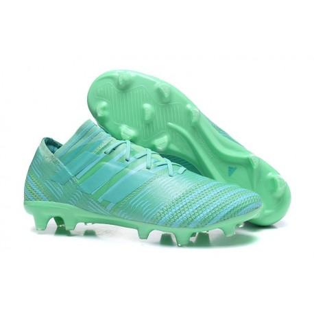 Baratas Zapatos de fútbol Adidas Nemeziz Messi 17.1 FG Verde