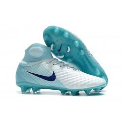 Zapatillas de fútbol Nike Magista Obra II FG Blanco Azul