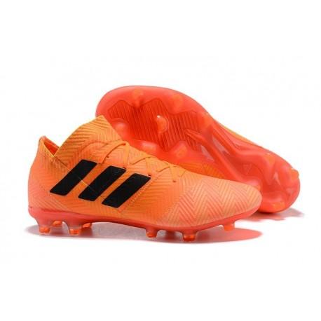 Zapatillas de fútbol Adidas Nemeziz Messi 18.1 FG Naranja Negro Rojo