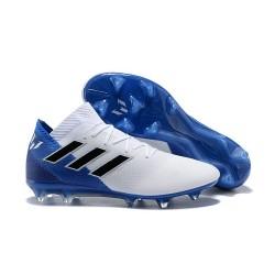 Zapatillas de fútbol Adidas Nemeziz Messi 18.1 FG Blanco Azul