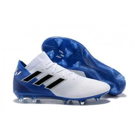 huge discount dcecf 9a168 Zapatillas de fútbol Adidas Nemeziz Messi 18.1 FG Blanco Azul