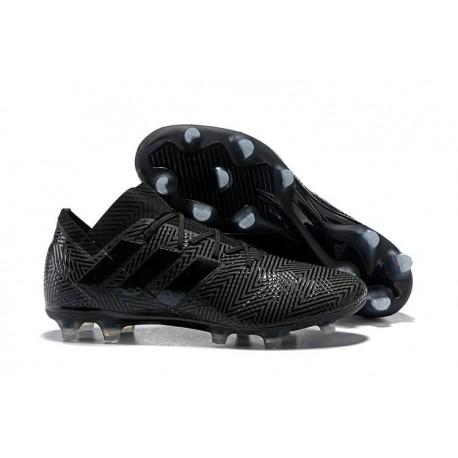Zapatillas de fútbol Adidas Nemeziz Messi 18.1 FG Todo Negro