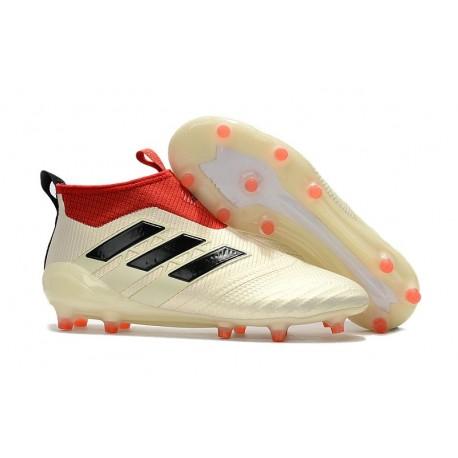 Baratas Botas de fútbol adidas Ace 17+ Purecontrol FG Blanco Negro Rojo