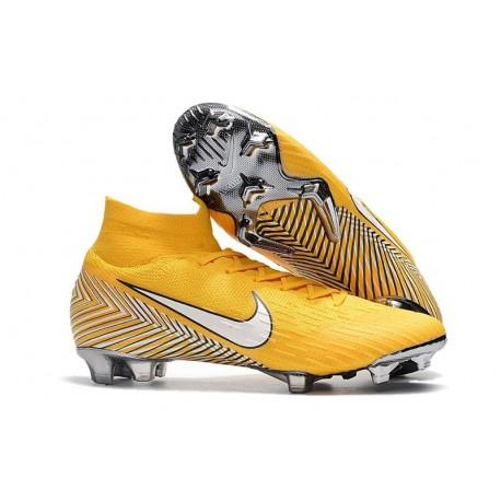 Zapatillas de fútbol Nike Mercurial Superfly VI 360 Elite FG Para Hombre Amarillo Blanco Negro