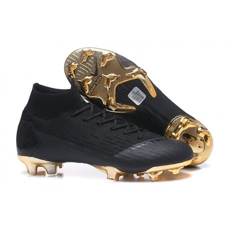 Zapatillas de fútbol Nike Mercurial Superfly VI 360 Elite FG Para Hombre Oro Negro